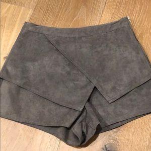 Grey velvet skort from LF